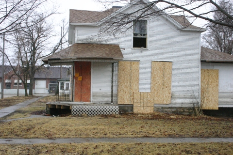 Zach Rogers' home at 201 E. Third St., Vinton, is now slated for demolition.